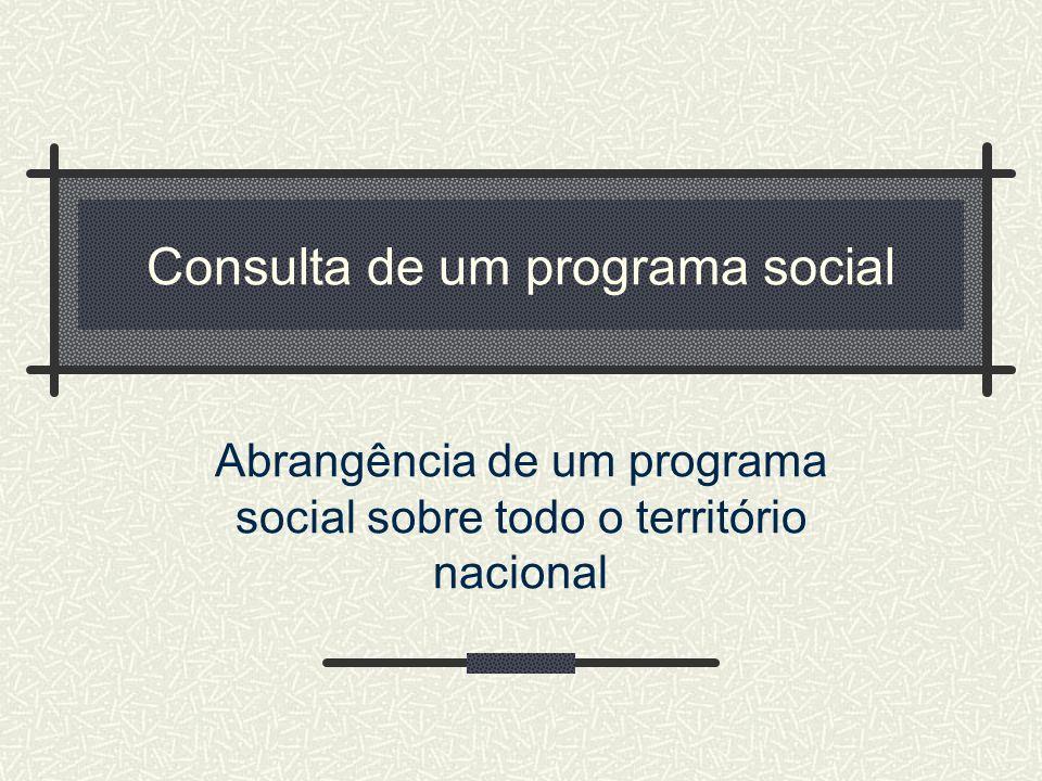 Consulta de um programa social
