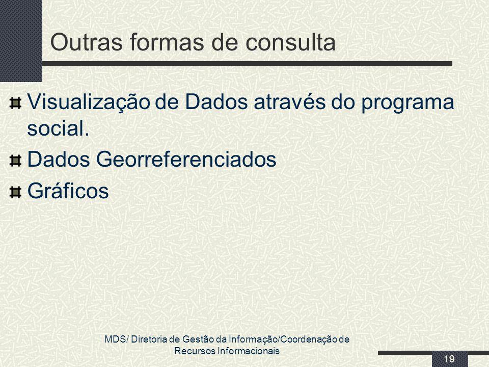 Outras formas de consulta