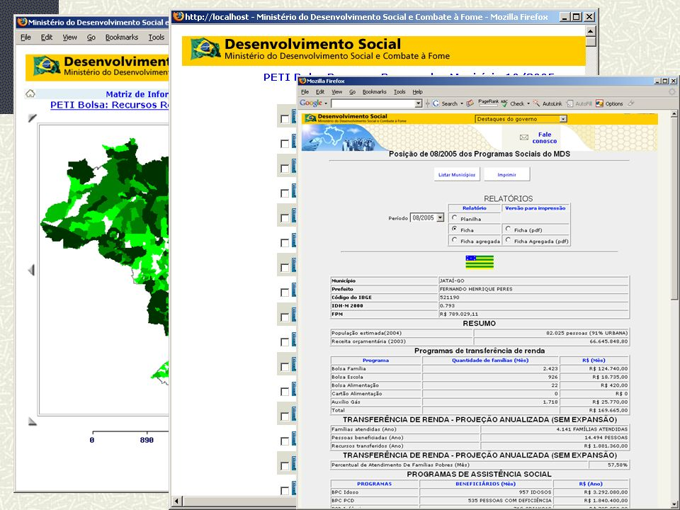MDS/ Diretoria de Gestão da Informação/Coordenação de Recursos Informacionais