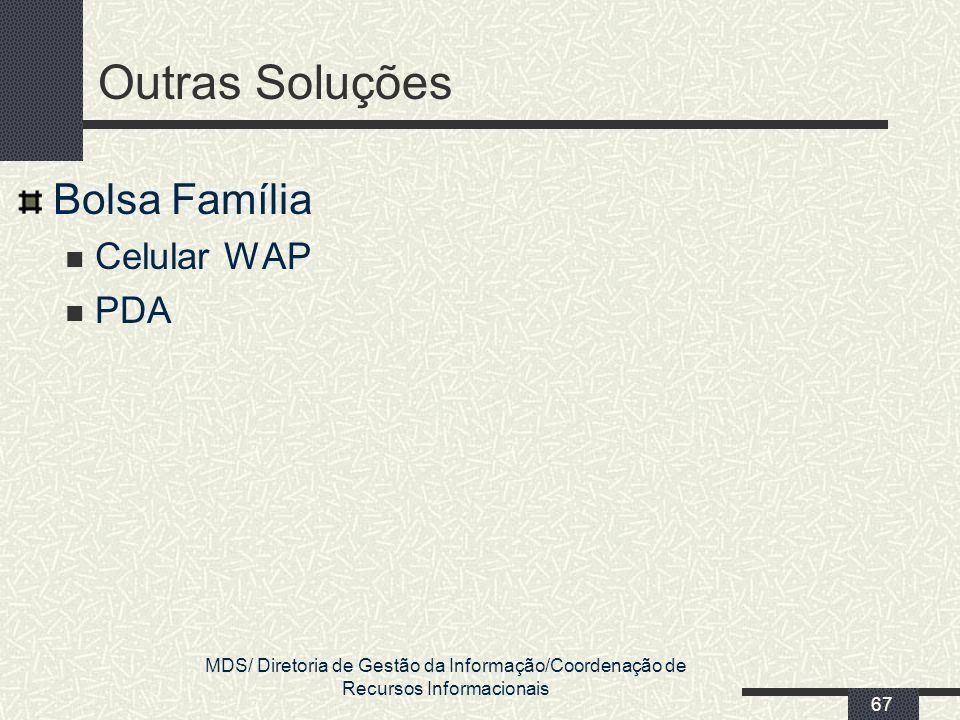 Outras Soluções Bolsa Família Celular WAP PDA