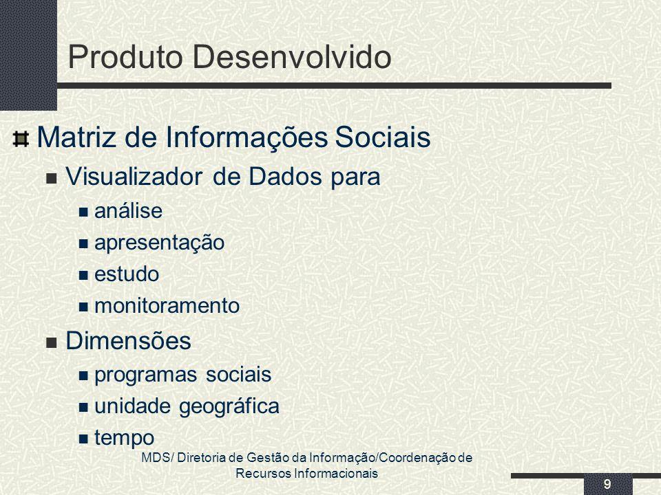 Produto Desenvolvido Matriz de Informações Sociais