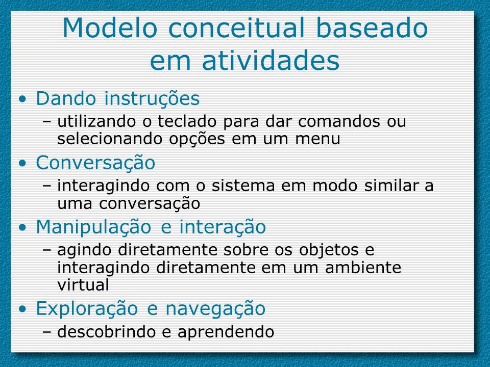 Modelo conceitual baseado em atividades