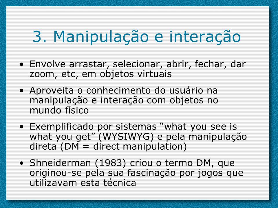 3. Manipulação e interação