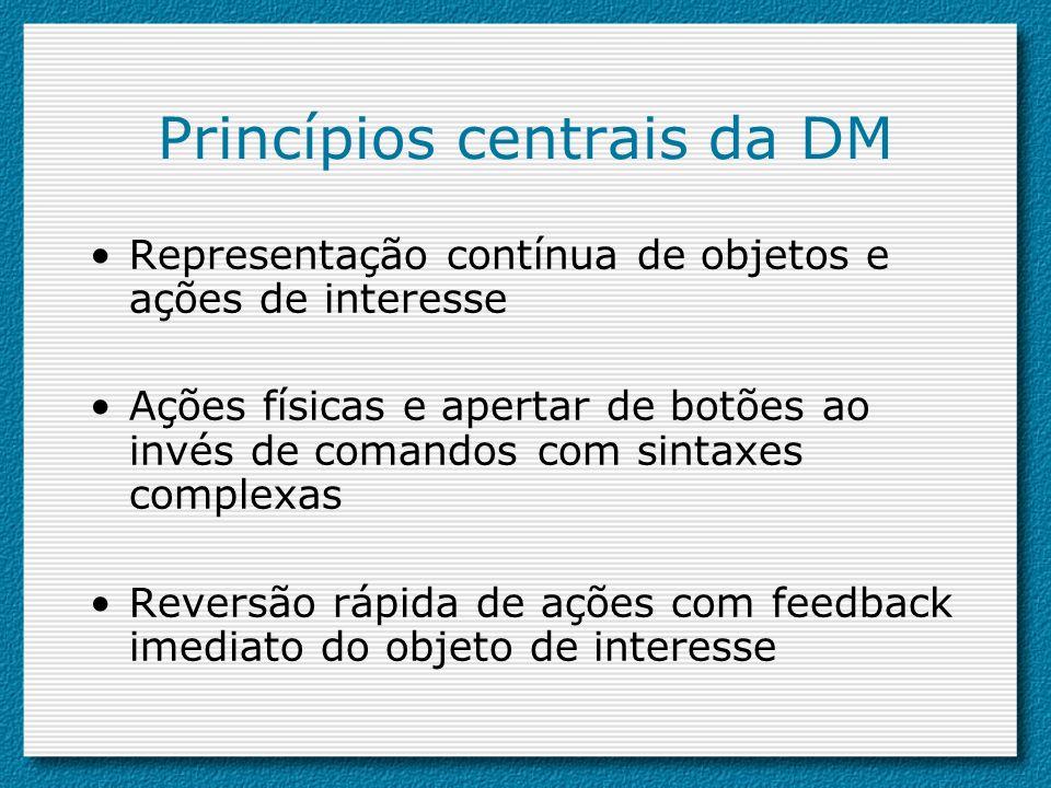 Princípios centrais da DM