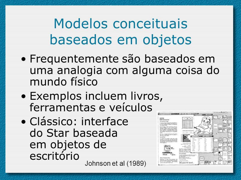 Modelos conceituais baseados em objetos