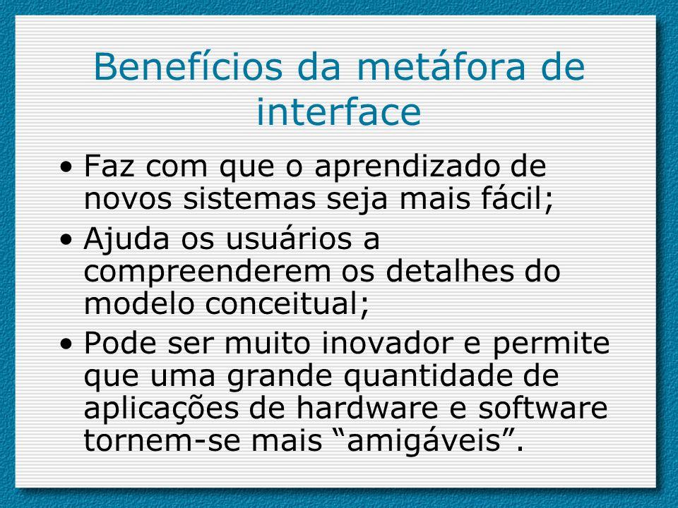 Benefícios da metáfora de interface