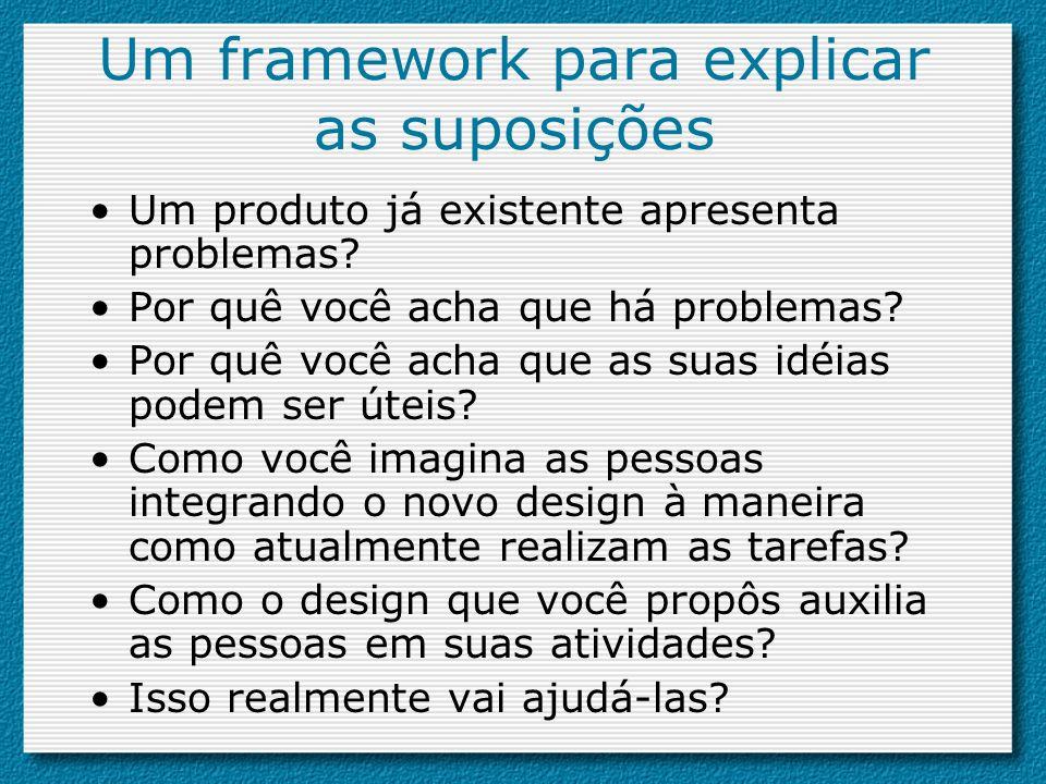 Um framework para explicar as suposições