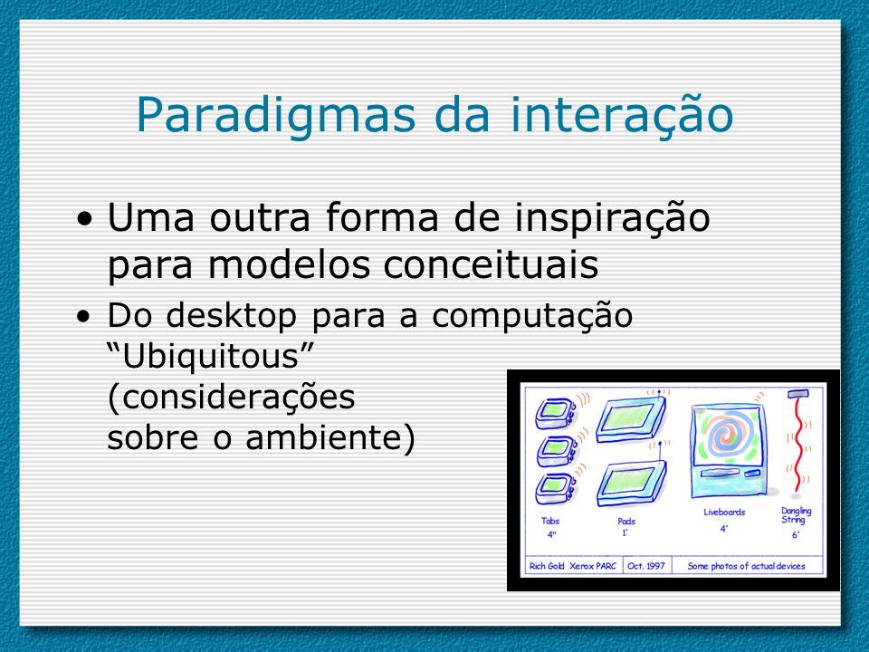 Paradigmas da interação