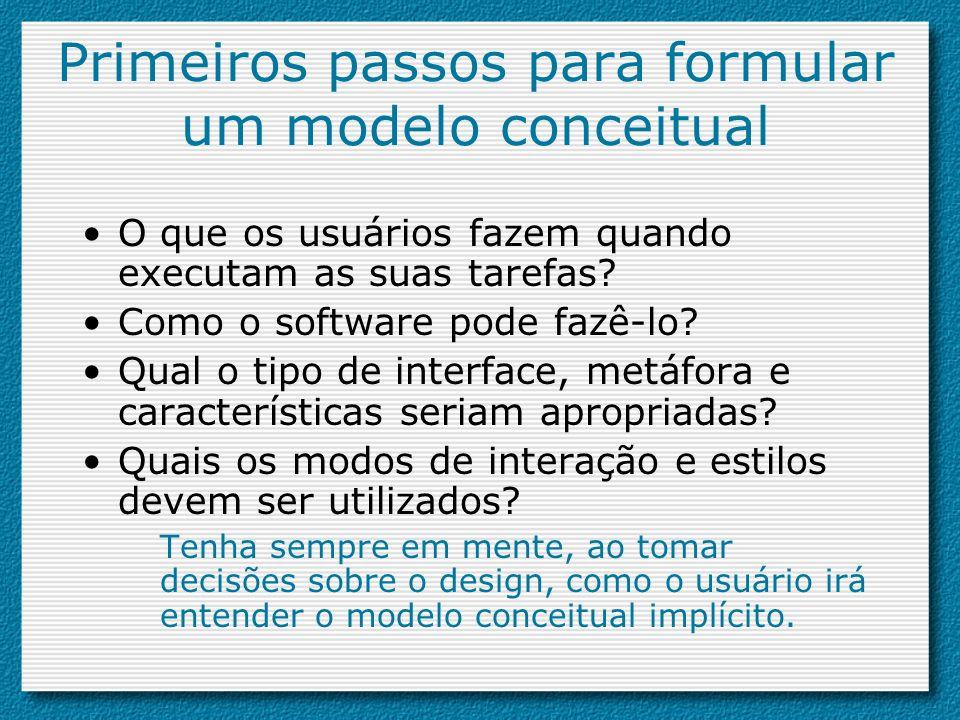 Primeiros passos para formular um modelo conceitual