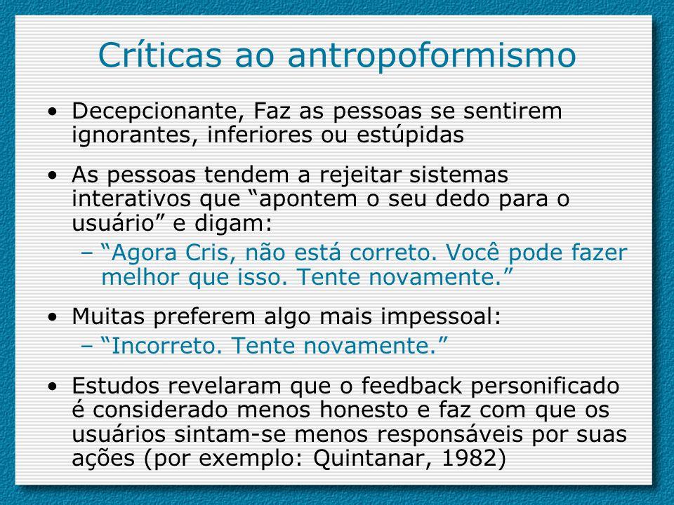 Críticas ao antropoformismo