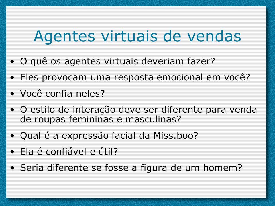 Agentes virtuais de vendas