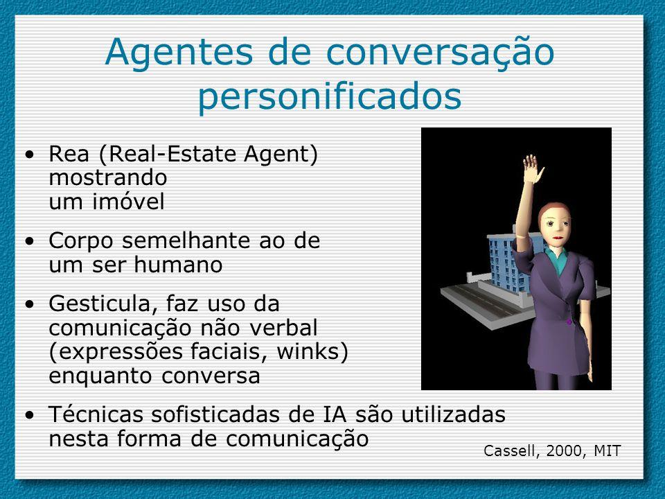 Agentes de conversação personificados