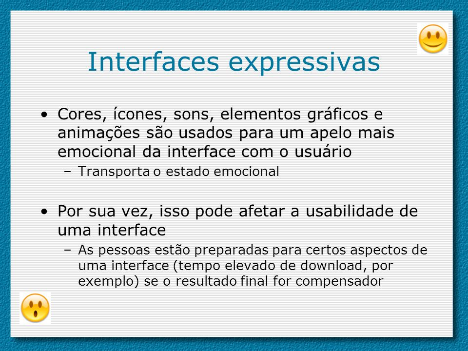 Interfaces expressivas