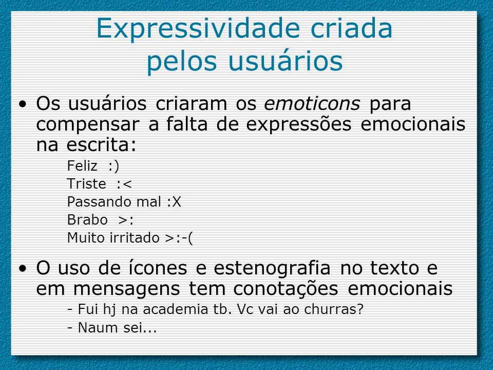 Expressividade criada pelos usuários