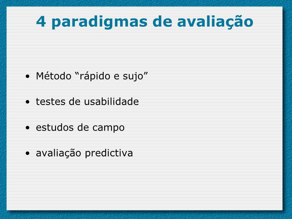 4 paradigmas de avaliação