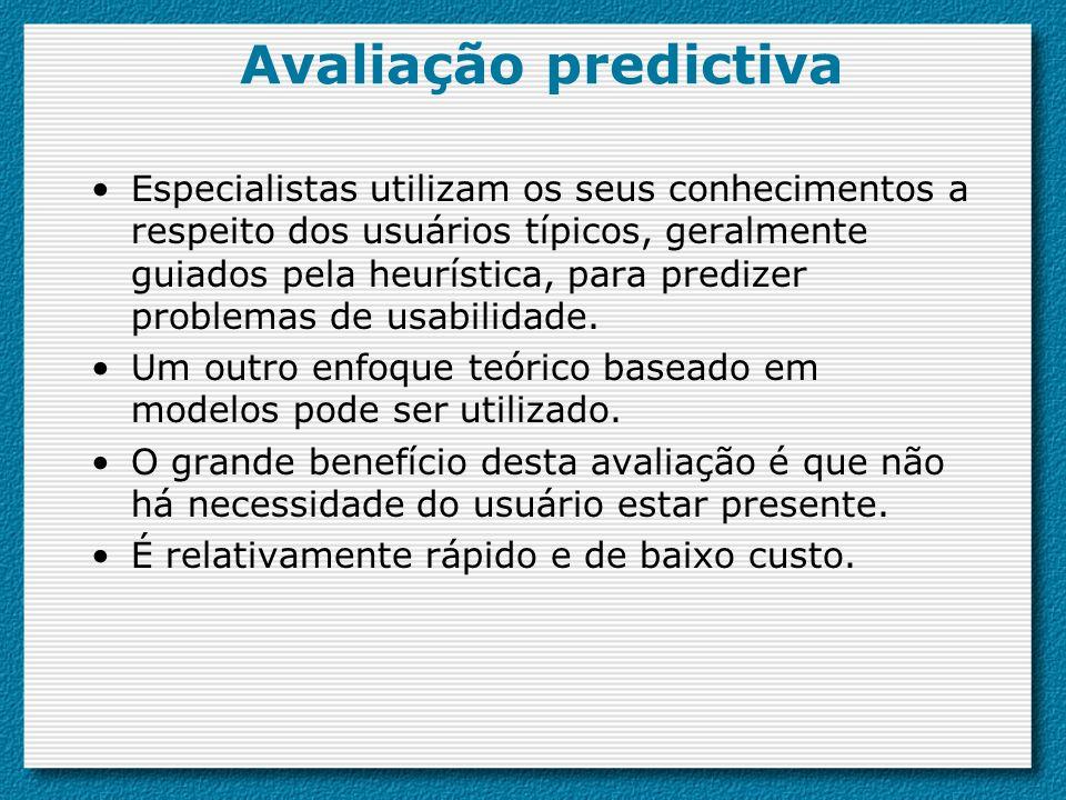 Avaliação predictiva