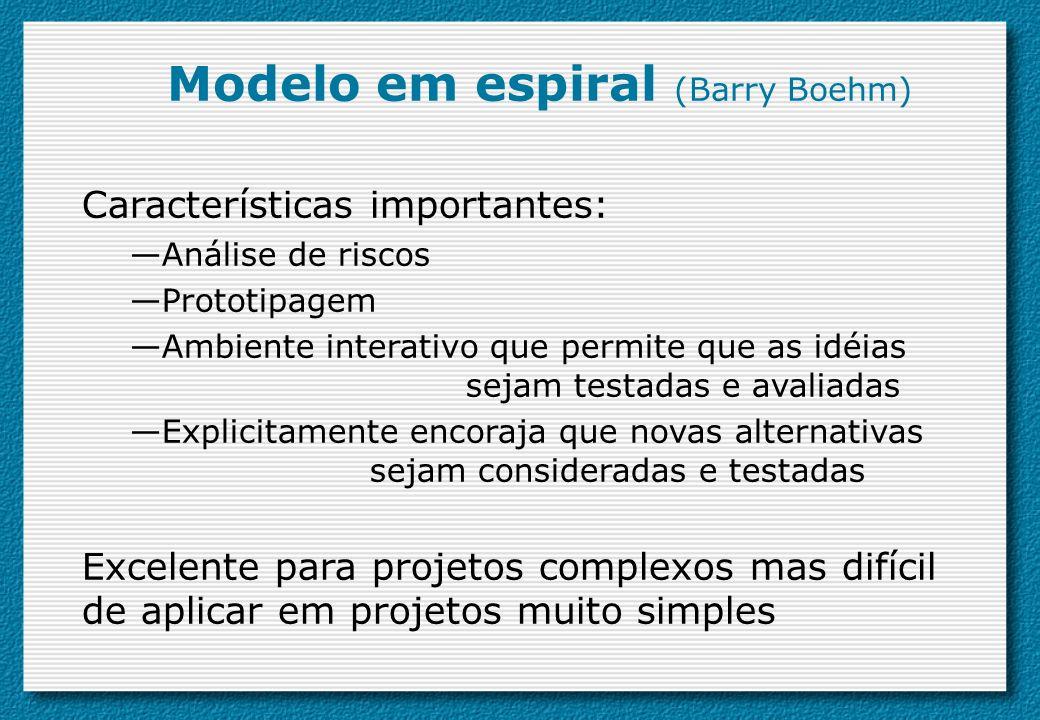 Modelo em espiral (Barry Boehm)