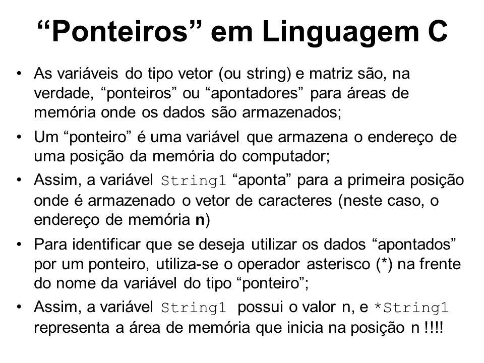 Ponteiros em Linguagem C