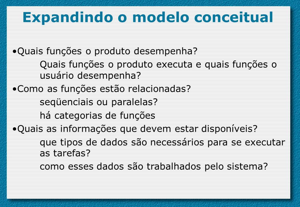 Expandindo o modelo conceitual