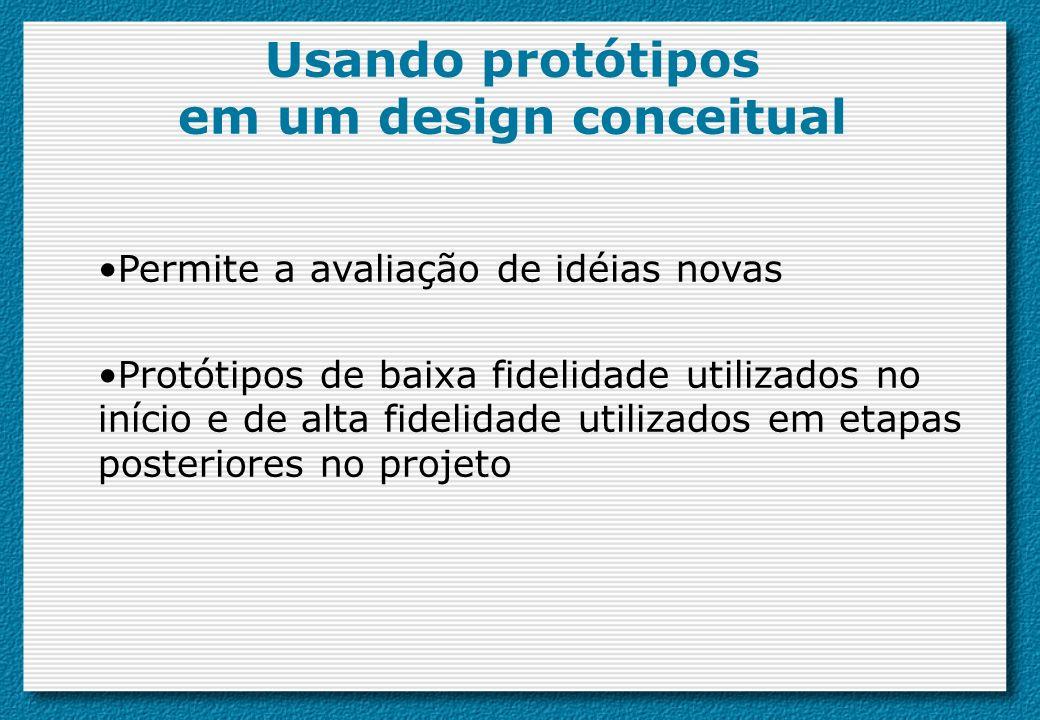 Usando protótipos em um design conceitual