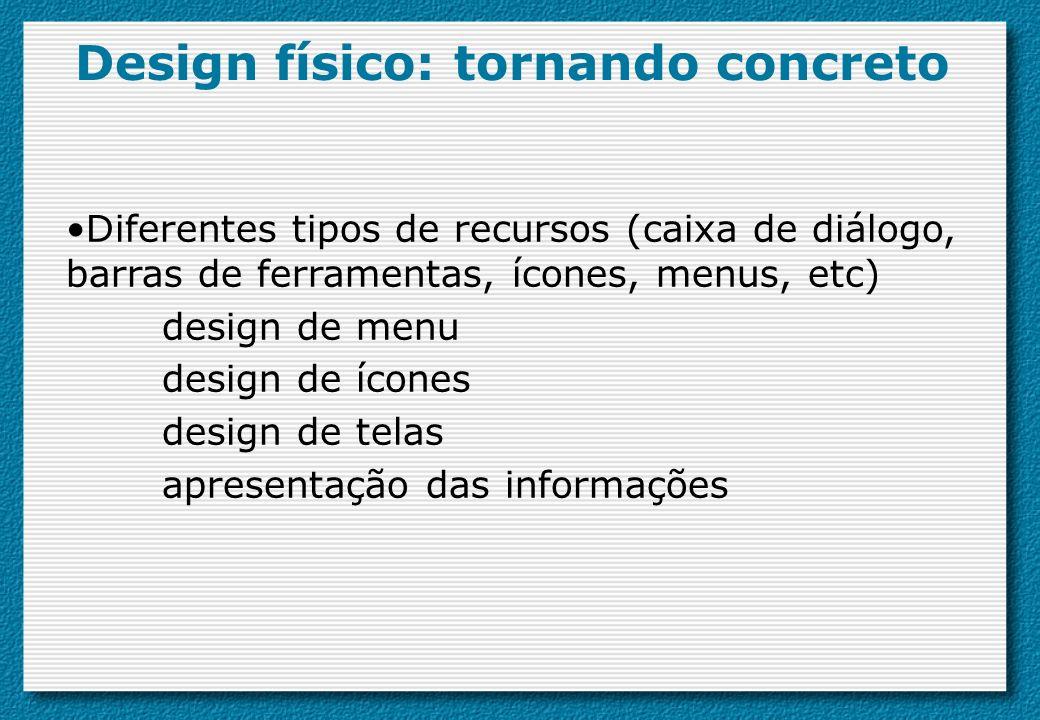 Design físico: tornando concreto