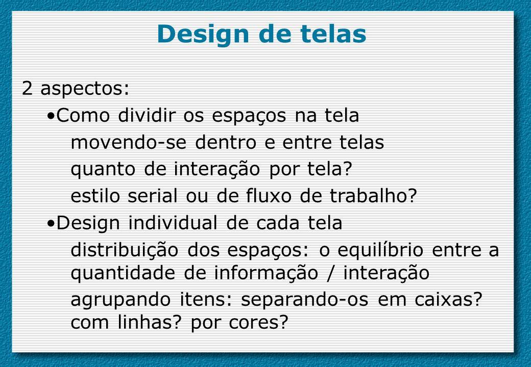 Design de telas 2 aspectos: Como dividir os espaços na tela