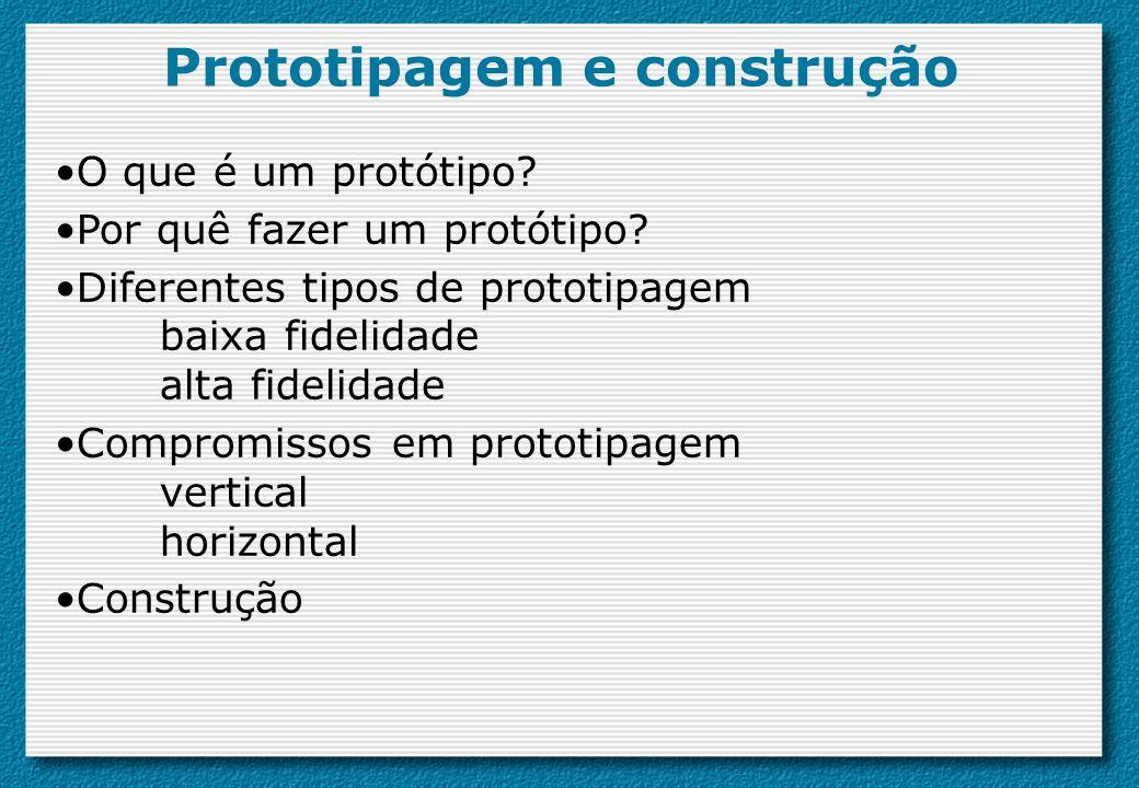 Prototipagem e construção