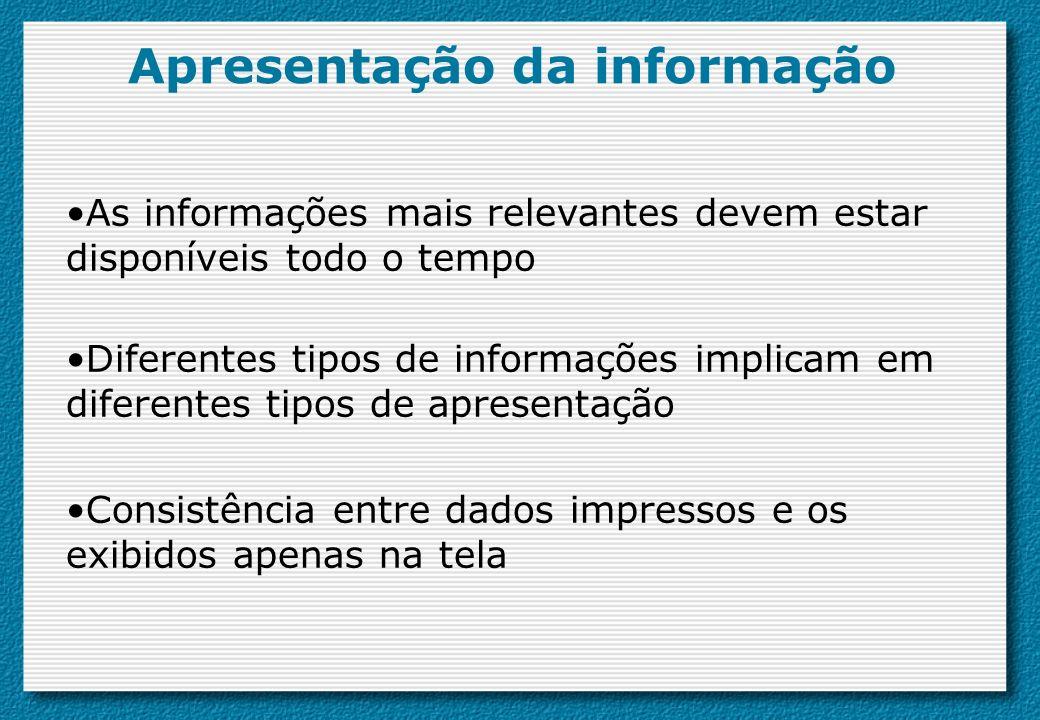 Apresentação da informação