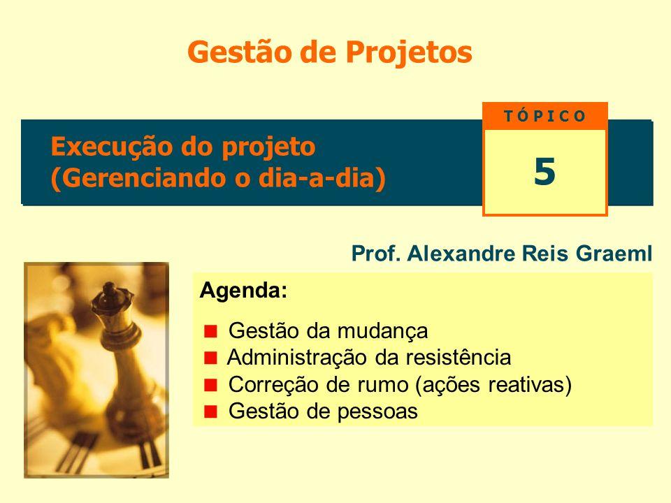 5 Gestão de Projetos Execução do projeto (Gerenciando o dia-a-dia)
