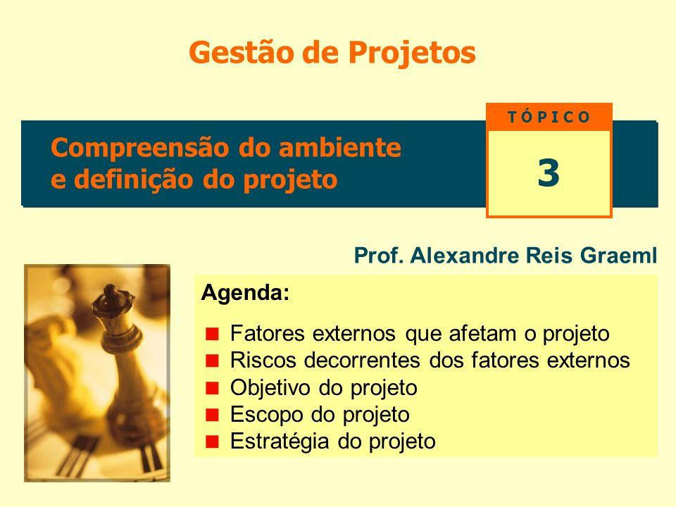 3 Gestão de Projetos Compreensão do ambiente e definição do projeto