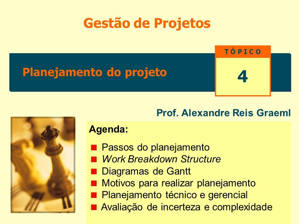4 Gestão de Projetos Planejamento do projeto