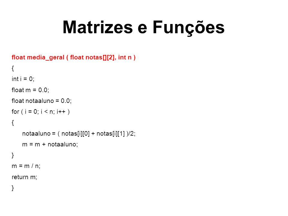 Matrizes e Funções
