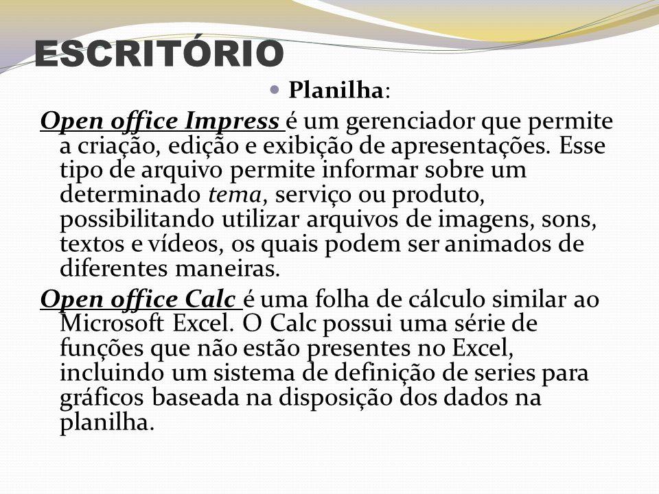 ESCRITÓRIO Planilha: