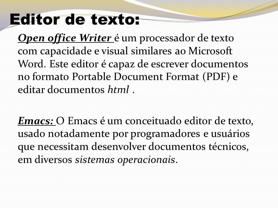 Editor de texto: