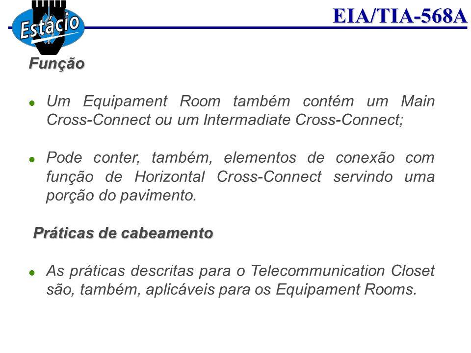 FunçãoUm Equipament Room também contém um Main Cross-Connect ou um Intermadiate Cross-Connect;