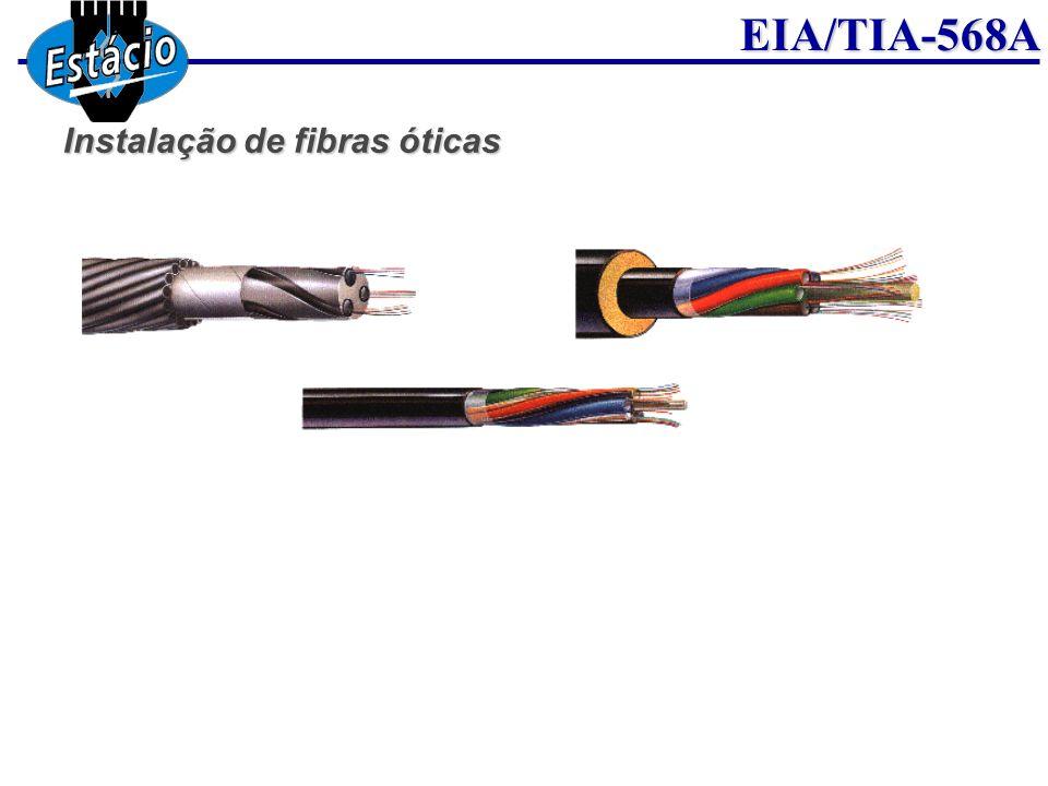 Instalação de fibras óticas