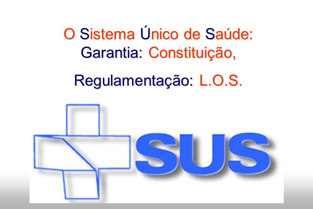 O Sistema Único de Saúde: Garantia: Constituição,