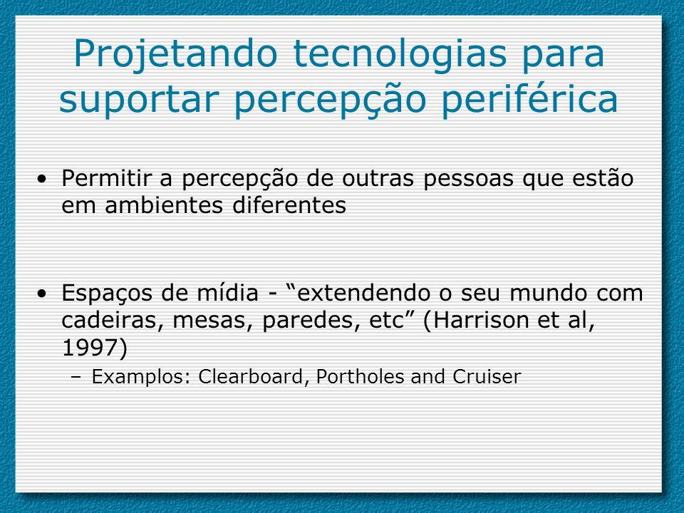 Projetando tecnologias para suportar percepção periférica