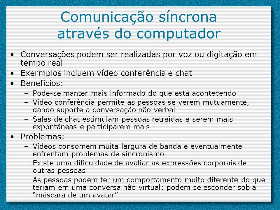 Comunicação síncrona através do computador
