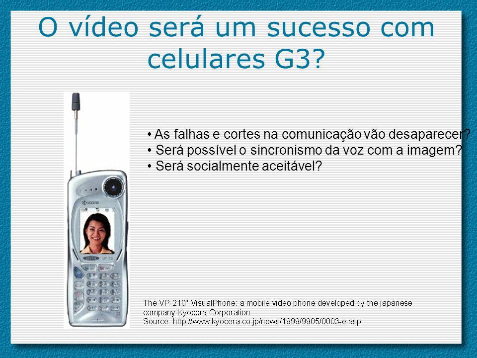 O vídeo será um sucesso com celulares G3