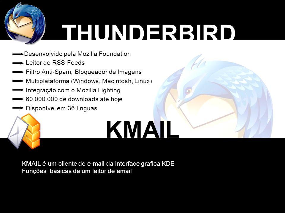 THUNDERBIRD KMAIL Desenvolvido pela Mozilla Foundation