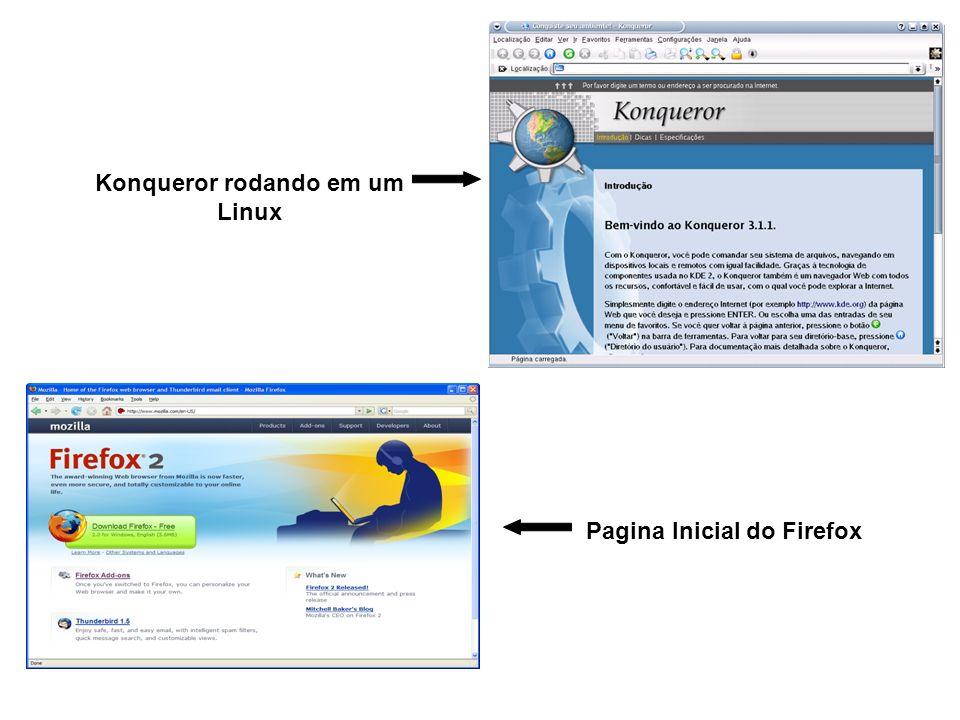 Konqueror rodando em um Linux