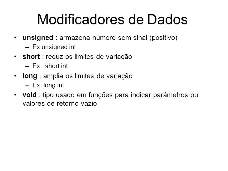 Modificadores de Dados