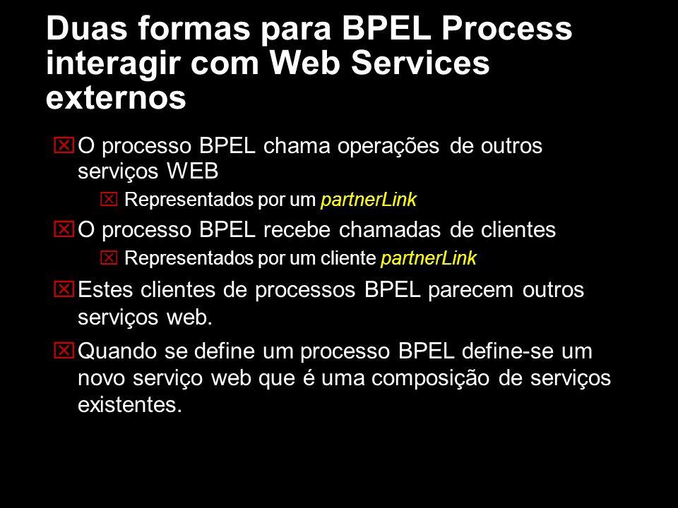 Duas formas para BPEL Process interagir com Web Services externos