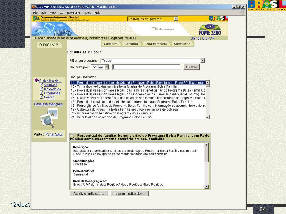 12/dez/2005 MDS/ Diretoria de Gestão da Informação/Coordenação de Recursos Informacionais
