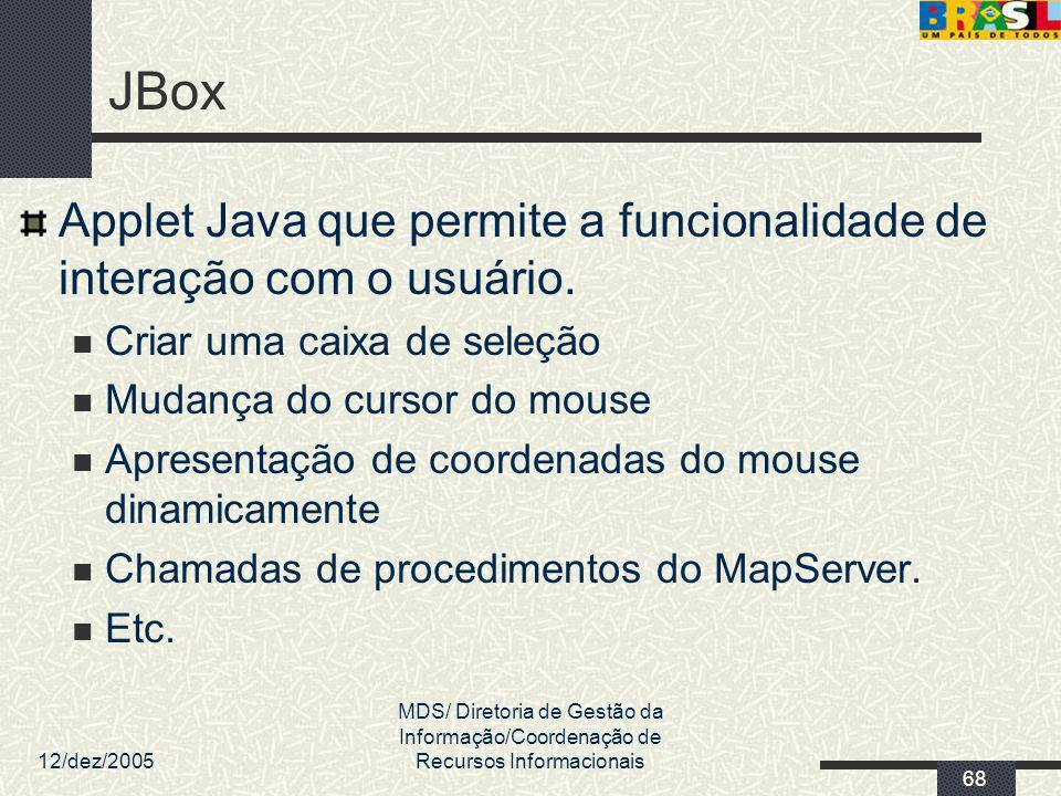 JBox Applet Java que permite a funcionalidade de interação com o usuário. Criar uma caixa de seleção.