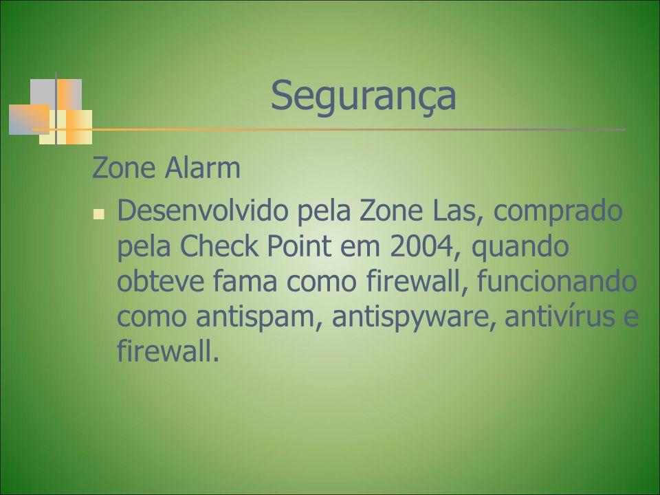 Segurança Zone Alarm.