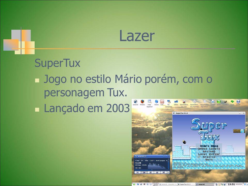 Lazer SuperTux Jogo no estilo Mário porém, com o personagem Tux.