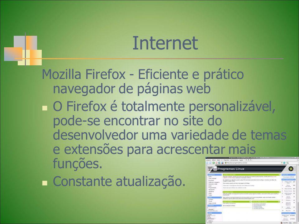 InternetMozilla Firefox - Eficiente e prático navegador de páginas web.