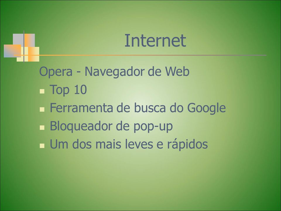 Internet Opera - Navegador de Web Top 10 Ferramenta de busca do Google